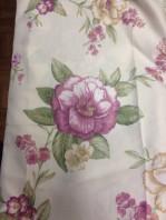 cotone 100% floreale rosa