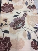 tessuto stampa floreale marrone