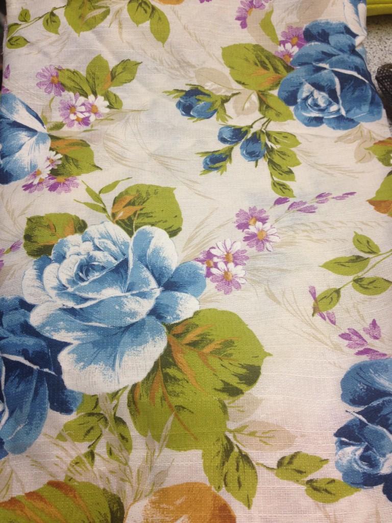 tessuto stampa floreale azzurro