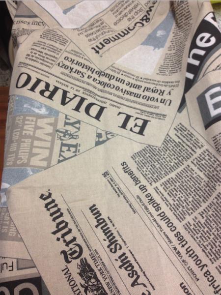 tessuto stampa giornale