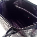 interno  borsa in cotone nero