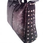 borsa borchiata nera