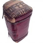 borsa personalizzata in juta e pelle testa di moro